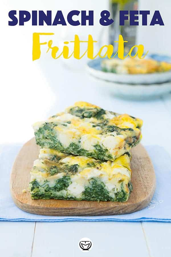 This baked frittata with spinach and feta is so good, rich in protein, easy to make and also great with wathever leftover veggies/cheeses you have on hand