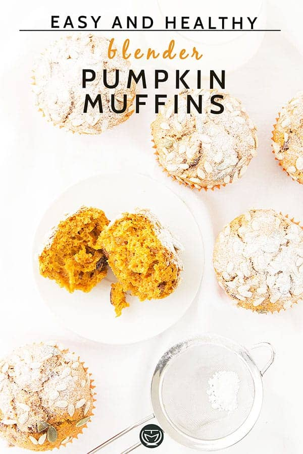 Delicious, easy pumpkin muffins, blend all the ingredients and bake.