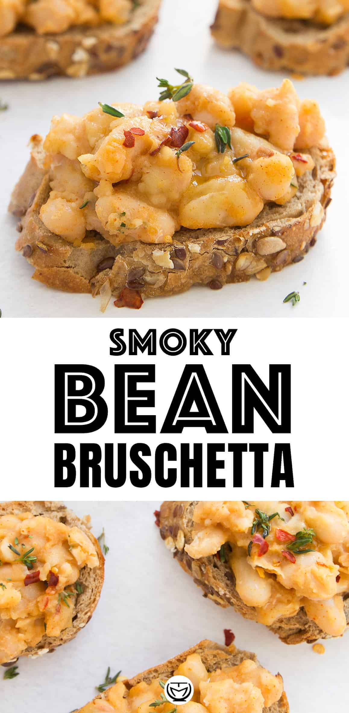 These delicious and flavorsome smoky beans on toast make an awesome vegan bruschetta, party appetizer, or last minute meal.