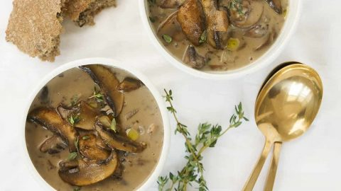 Healthy Mushroom Soup No Cream The Clever Meal