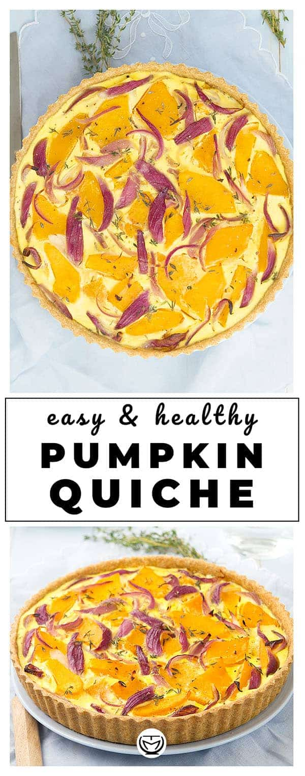 A delicious and colourful pumpkin quiche perfect for any occasion and packed with nutrients.