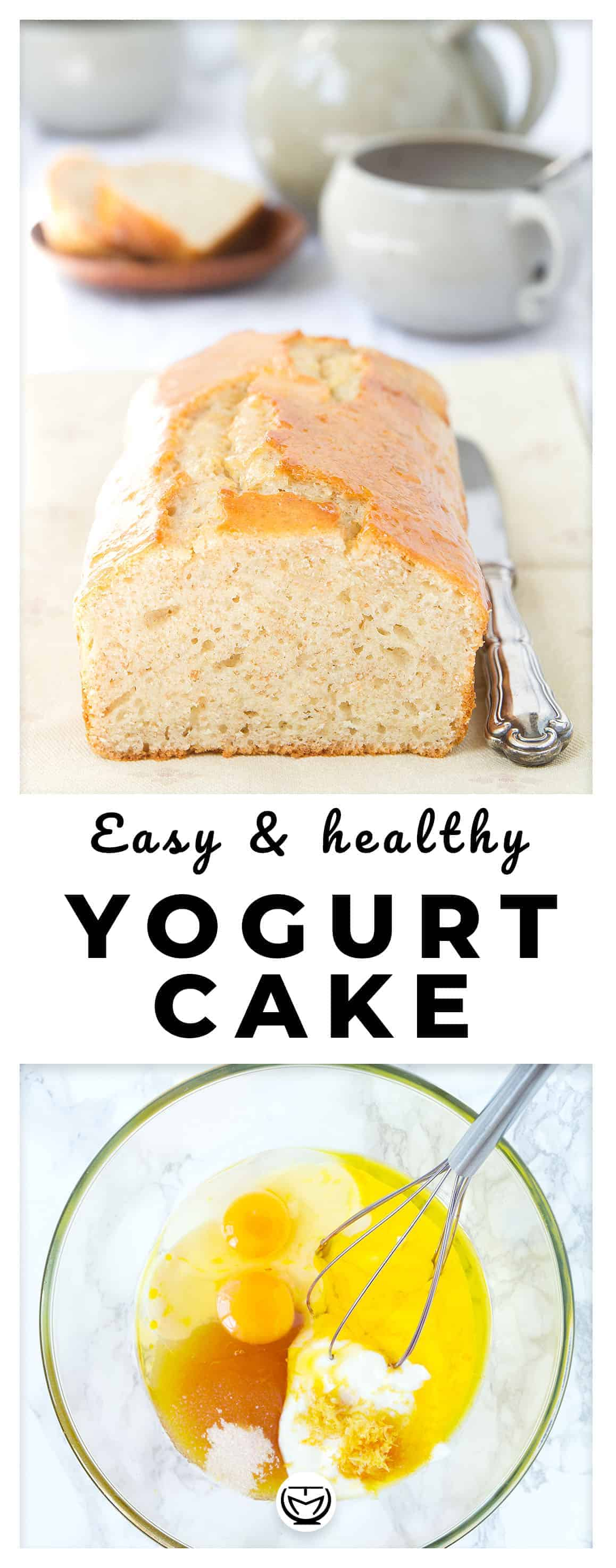 Packed with yogurt, easy and inexpensive, this cake is a must. No refined sugar, no refined flour. All you have to do is mixing a few basic ingredients, all in one bowl, and bake! #easydesserts #cakes #yogurtrecipes #cheapmeals #healthybreakfast #simplecakes