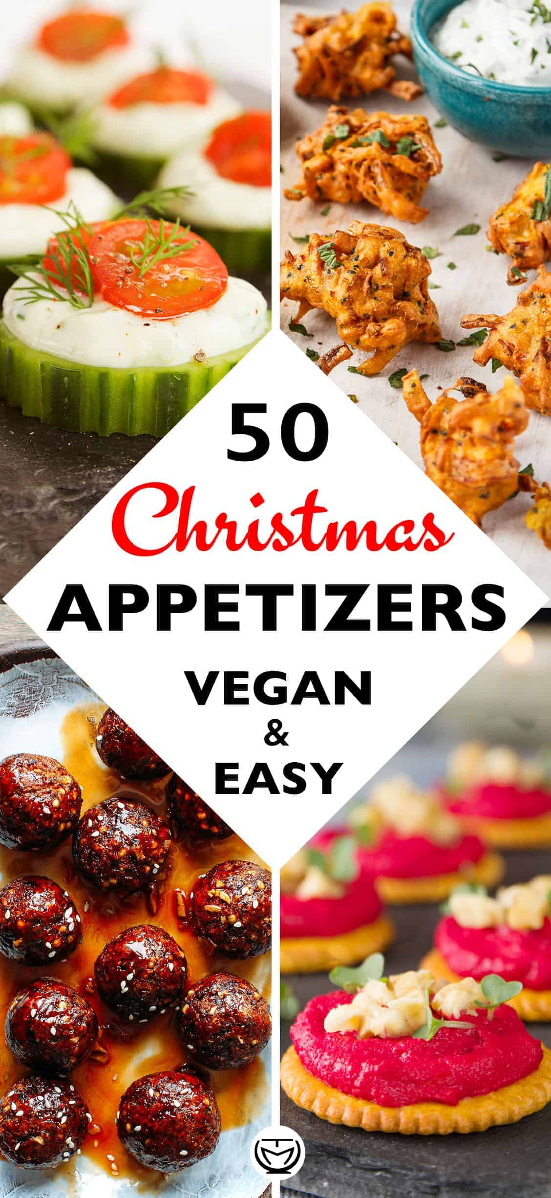 These delicious and easy vegan appetizers are what you'll need for your Christmas feast. The most incredible, healthy and inexpensive party food perfect to please a crowd! #christmasrecipes #appetizersforparty #veganrecipes #veganappetizers #fingerfood #partyfood