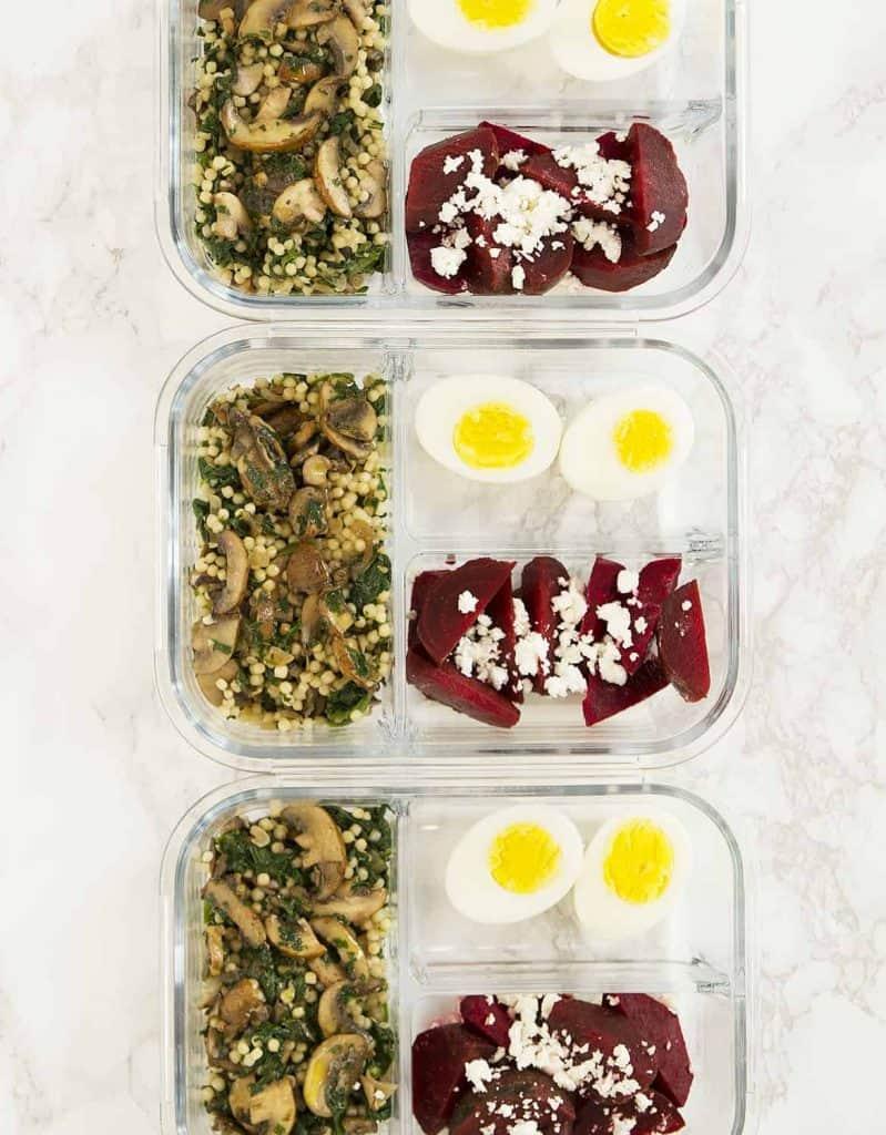 Mushroom couscous meal prep idea