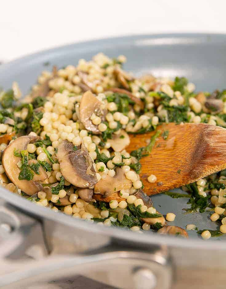 This mushroom couscous makes a perfect meal prep idea, ready in 20 minutes.