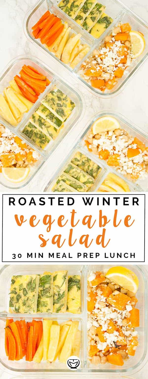 This winter vegetable salad and frittata meal prep is delicious and ready in no time!