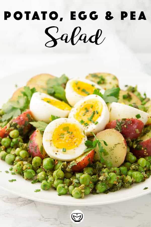 This delicious and healthy potato and egg salad is super easy to throw together, you need just a few basic ingredients and a prep time of 20 minutes. Flavorsome, satisfying and packed with nutrients, this is the perfect salad for a picnic or a last minute meal! #saladrecipes #potatorecipes #cheapmeals #vegetarianrecipes