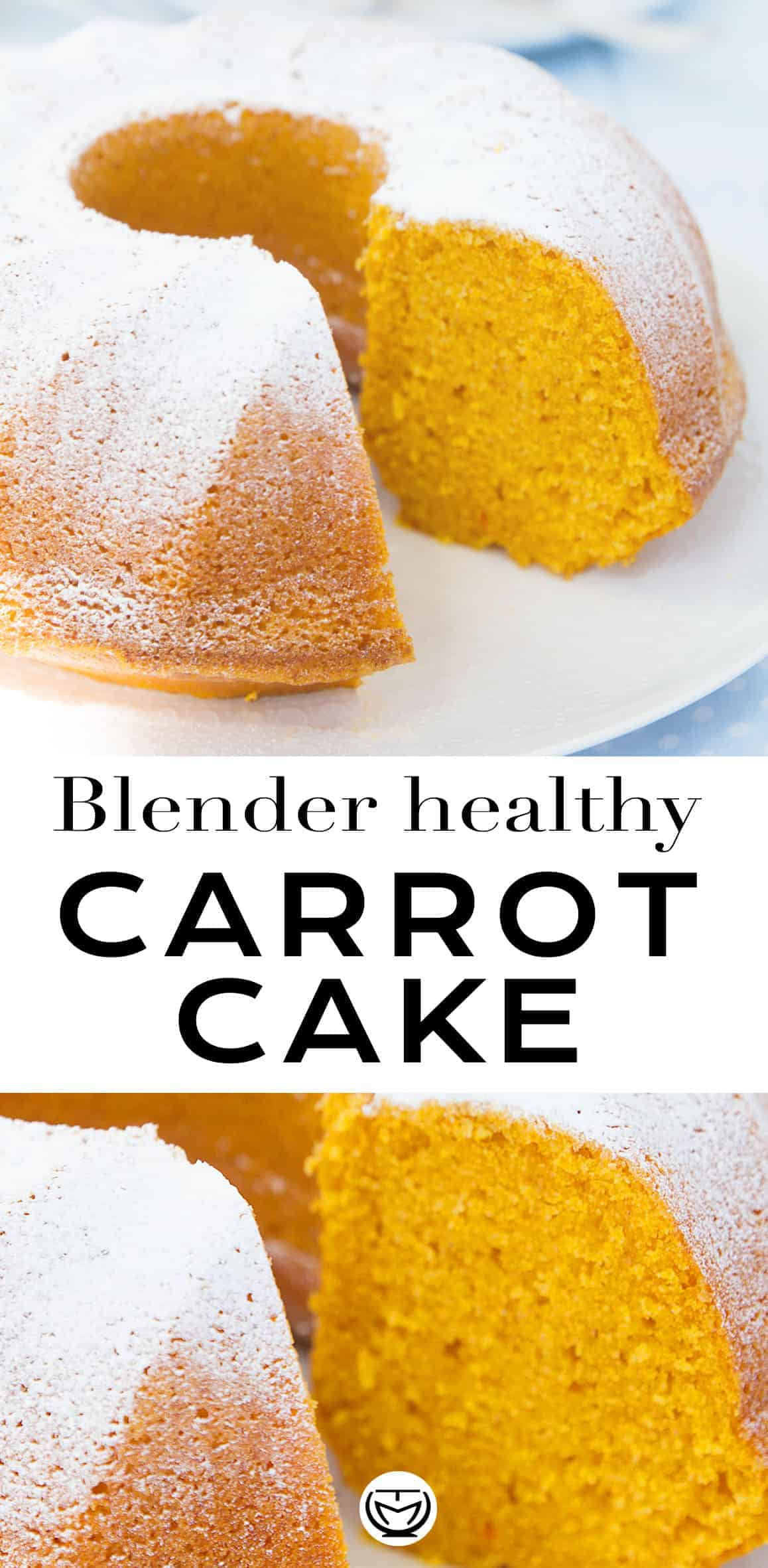 This is the easiest and super moist healthy carrot cake ever! A simply delicious, healthy and economical cake loaded with carrots. Not only is this cake light, melt in your mouth and not too sweet, but it's also fuss-free: blend all the ingredients and bake it! #blenderrecipes #carrotcake #healthyrecipes #easydesserts #healthycakerecipes