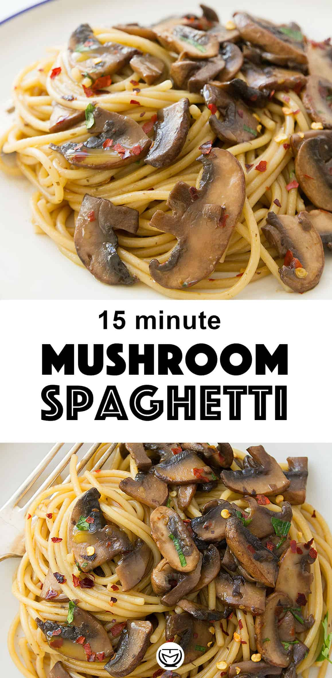 Everyone needs a good garlic mushroom pasta recipe in their back pocket for last-minute dinners! It's quick, healthy and super tasty. #pastarecipes #mushroomrecipes #15minutemeals #easydinnerrecipes