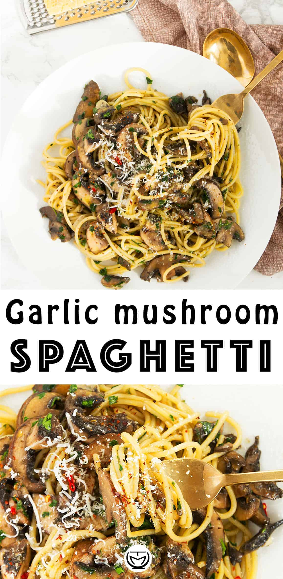 Everyone needs a good garlic mushroom pasta recipe in their back pocket for last minute dinners! It's packed with umami flavor and boosts your mood at the end of a long day, plus it's inexpensive, easy and healthy. #pastarecipes #easydinnerrecipes #cheapmeals #quickandeasydinnerrecipes #15minutemeals
