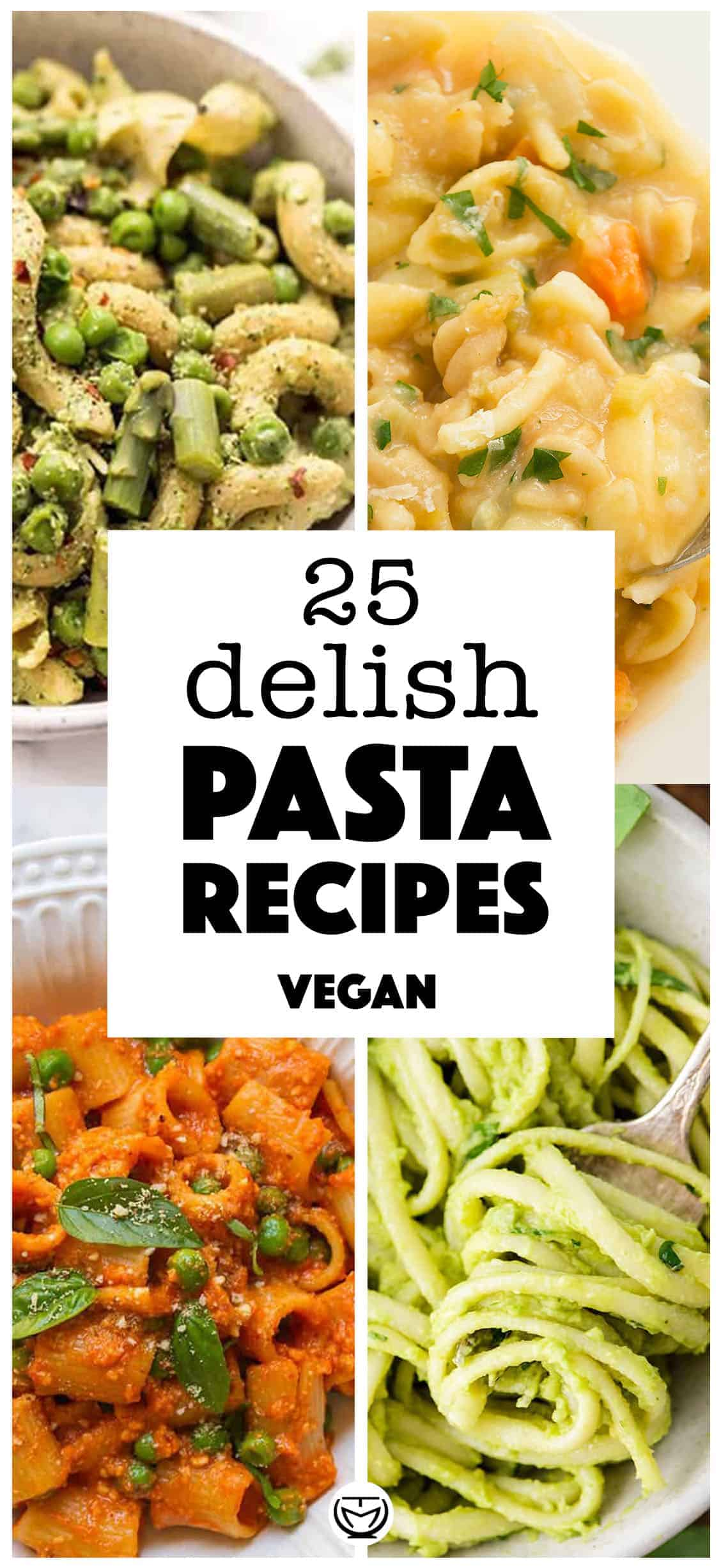 25 Amazing vegan pasta recipes you will love! #veganrecipes #pastarecipes