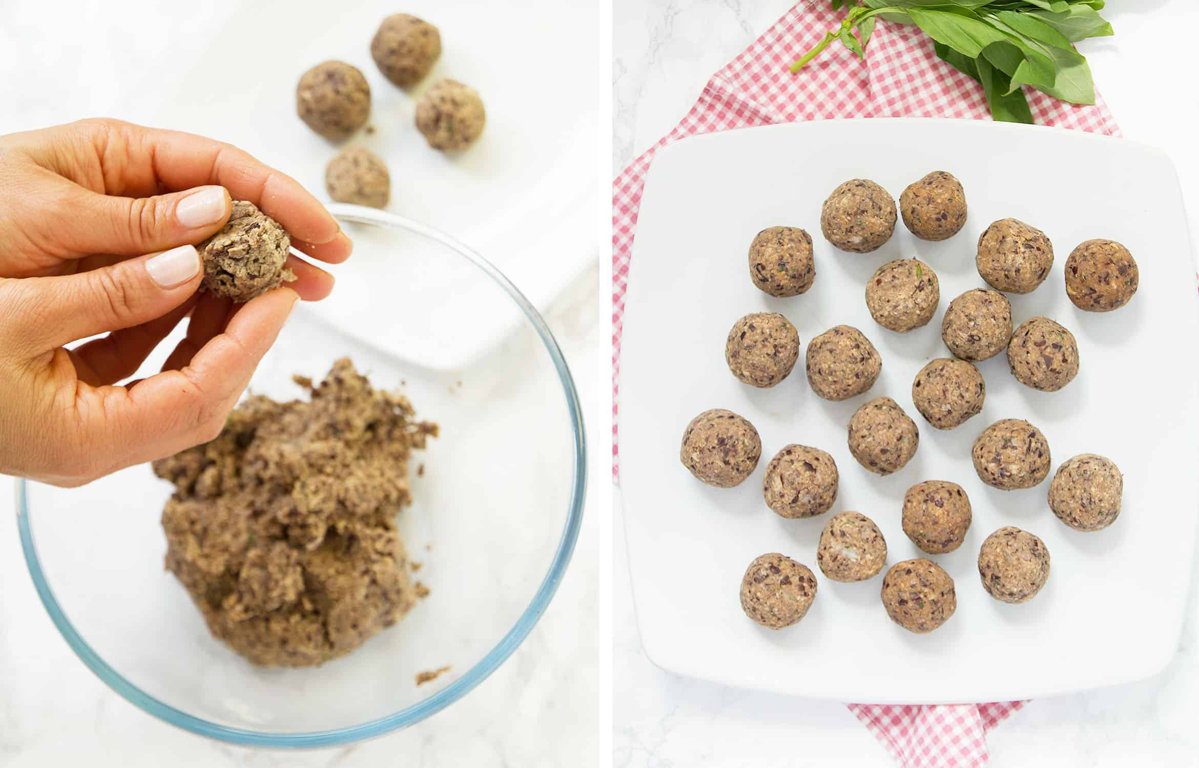 For about 18-20 little vegan meatballs