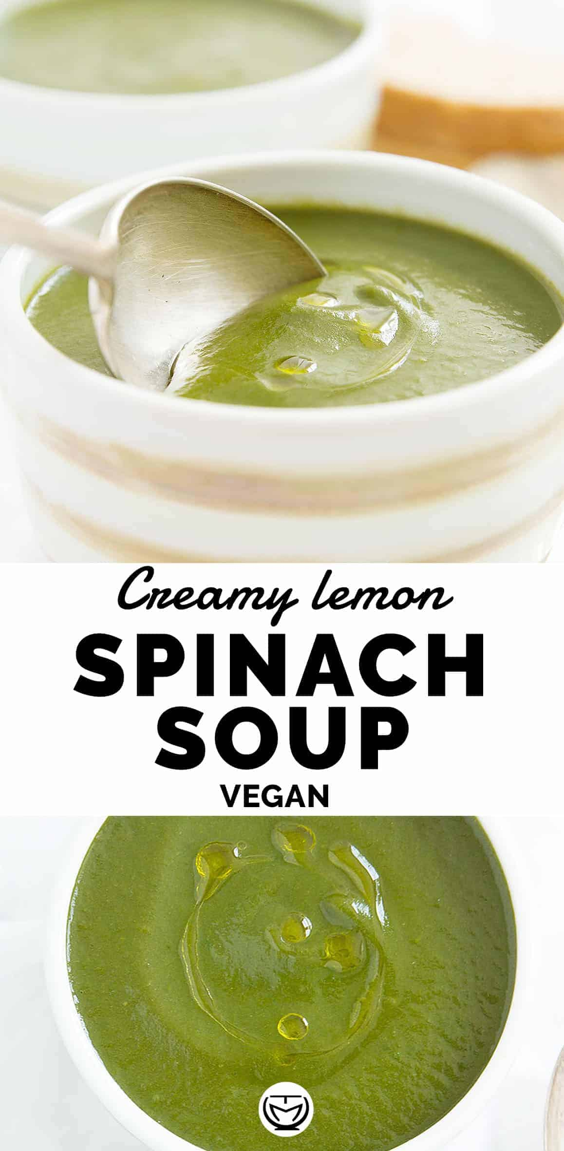This nourishing creamy vegan spinach soup is one of my go-to recipes when getting weeknight dinners on the table can feel like a chore. It takes just 20 minutes to make, I always have these basic ingredients on hand and there's barely any clean up!