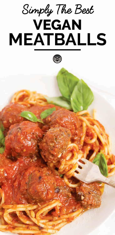 Super easy vegan meatballs in Italian tomato sauce
