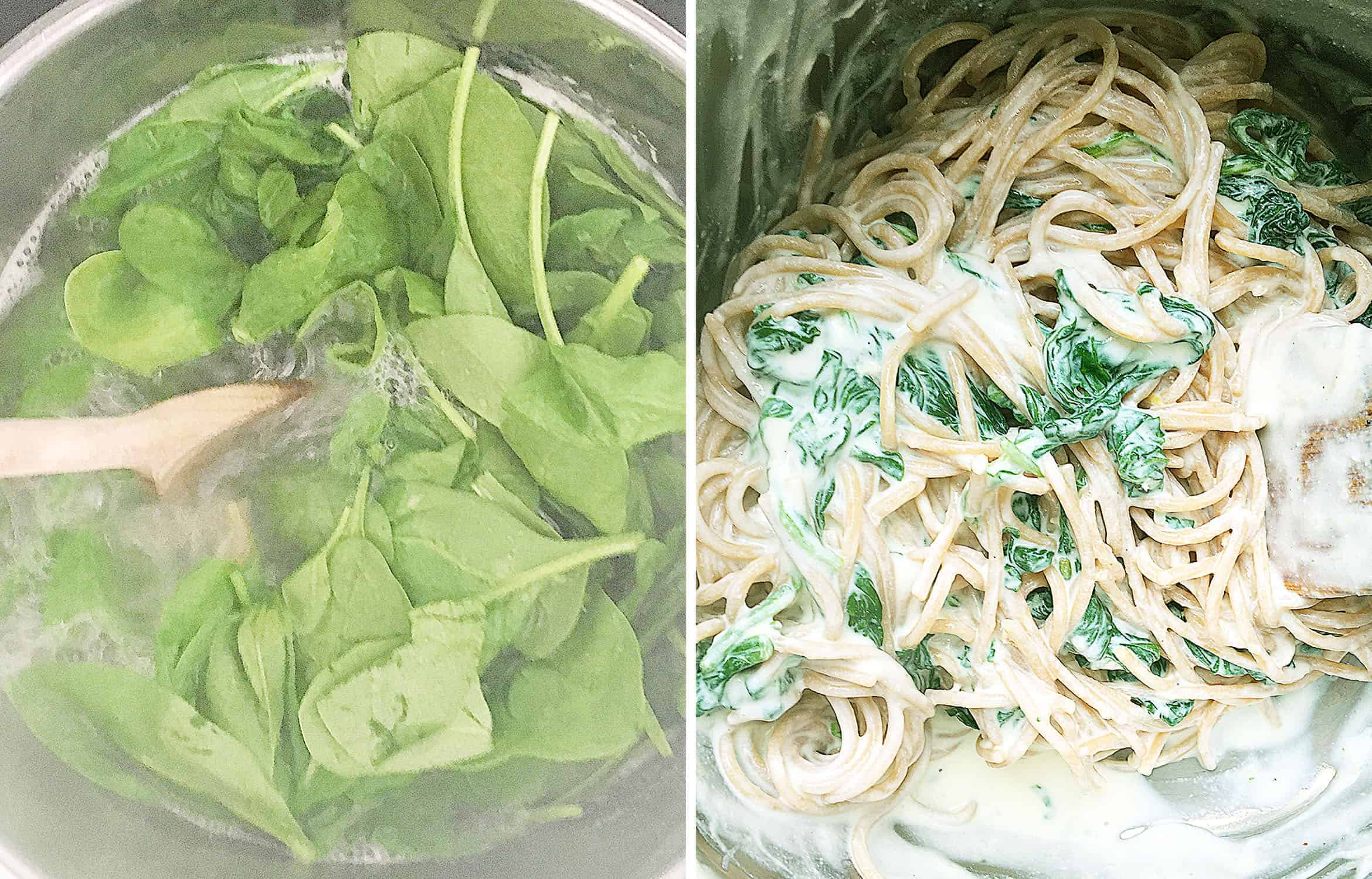 How to cook this easy lemon ricotta pasta with spinach.