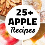 Four different apple recipes.