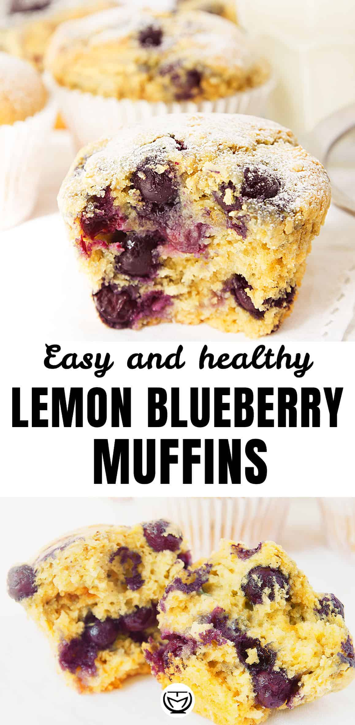 Easy, healthy and delicious lemon blueberry muffins.
