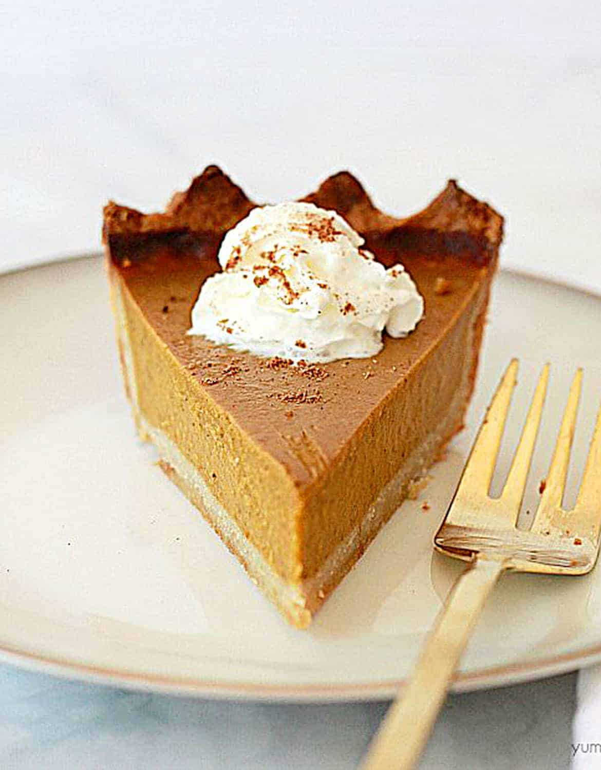 BEST VEGAN PUMPKIN PIE by Yummy Yummy Kitchen
