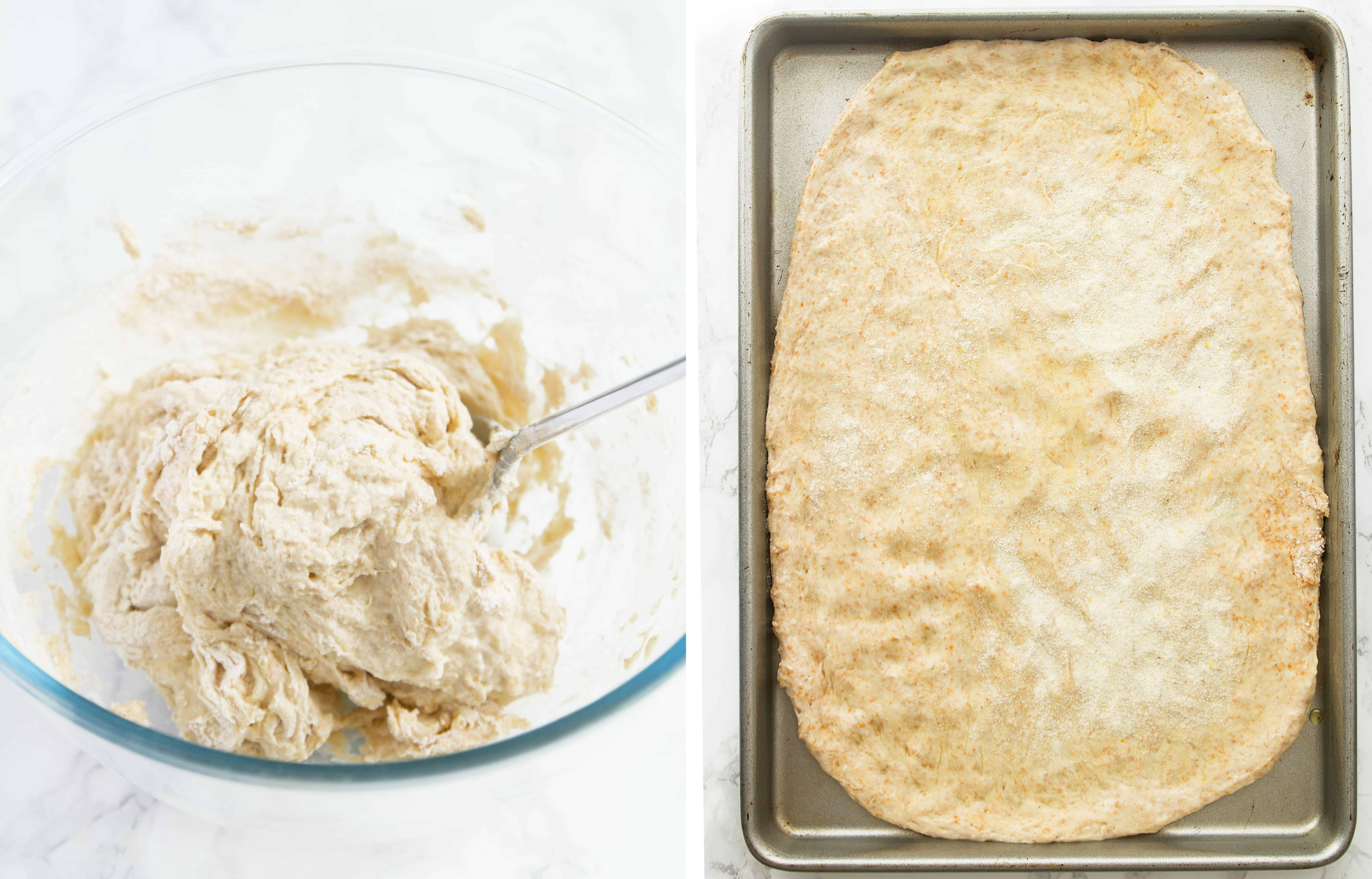 how to make a no-knead pizza crust in 20 minutes!