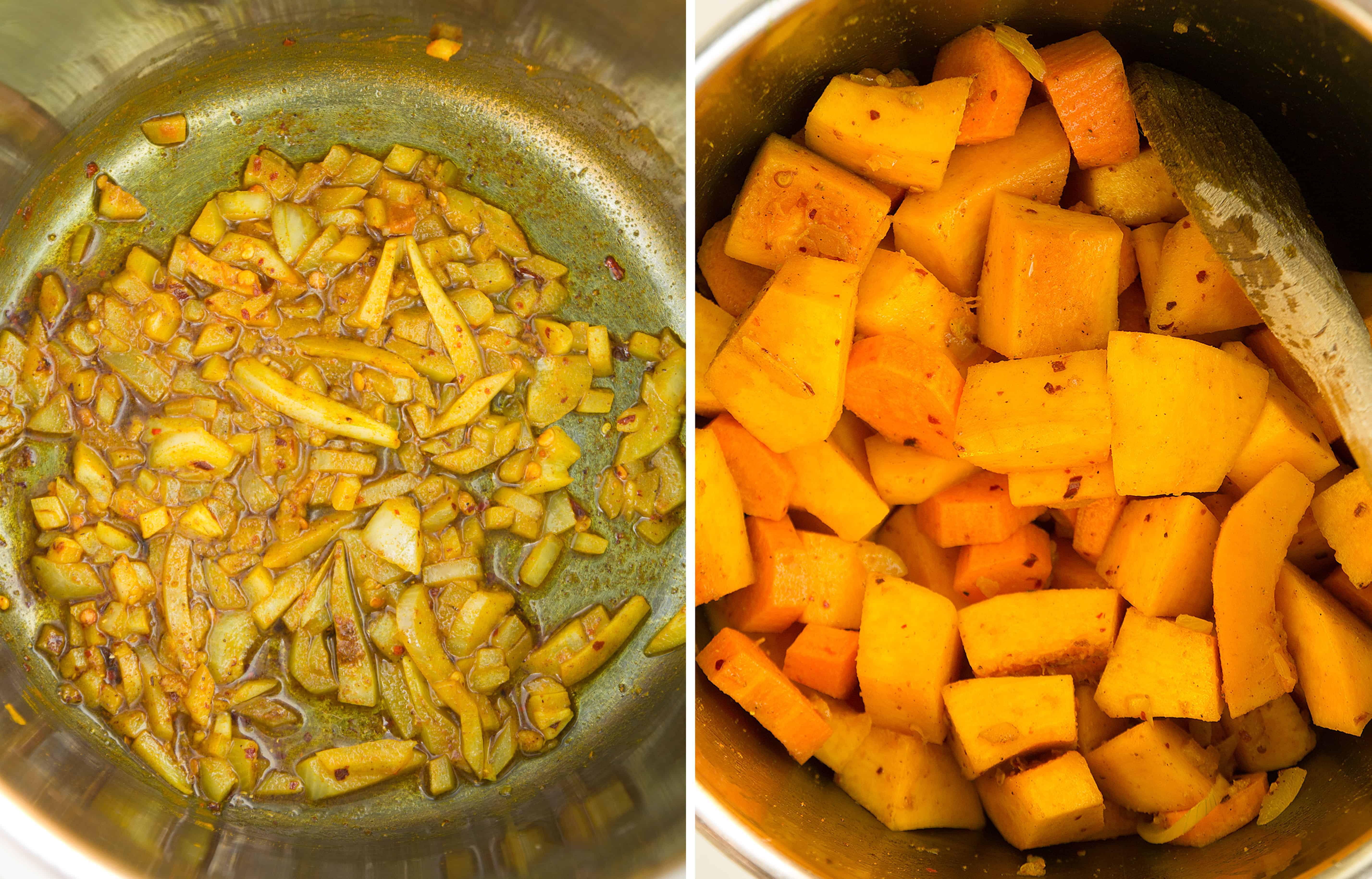 How to make a pumpkin carrot soup.
