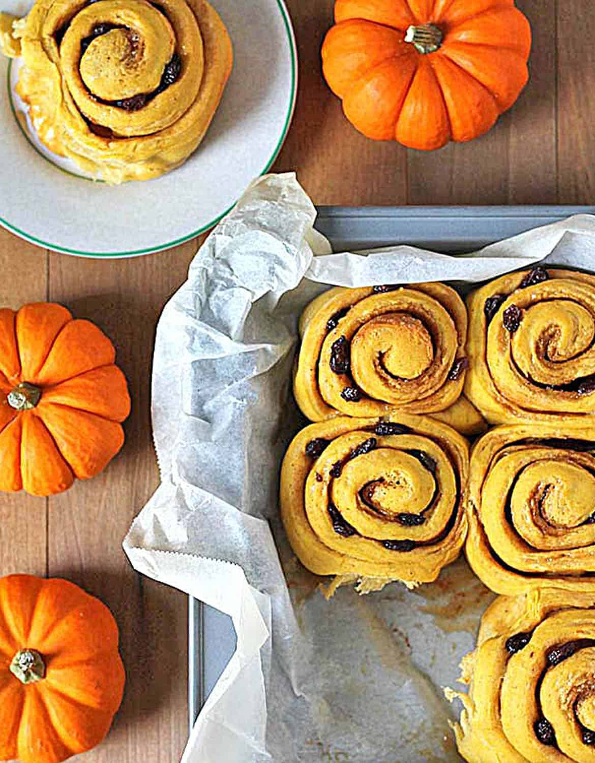 VEGAN PUMPKIN CINNAMON ROLLS by Delightful Adventures