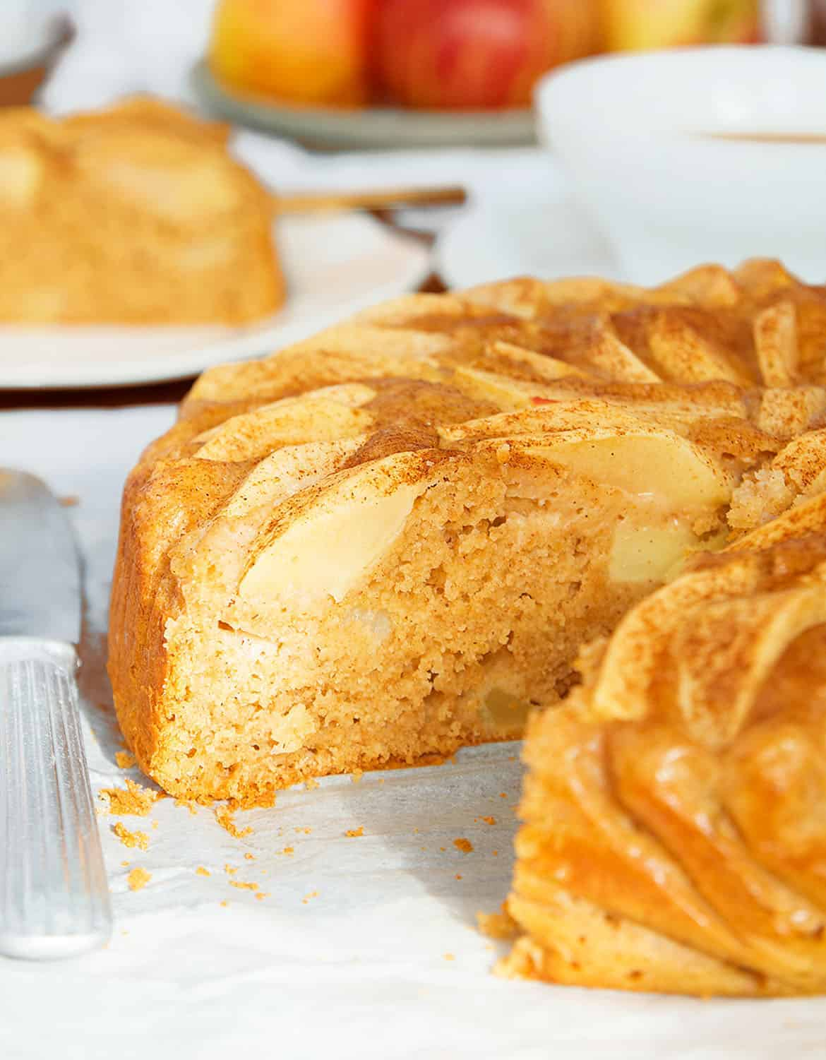 A delicious apple cake that tastes like apples, not sugar!