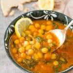 Mediterranean chickpea soup