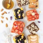 Four images showing four different healthy cakes.