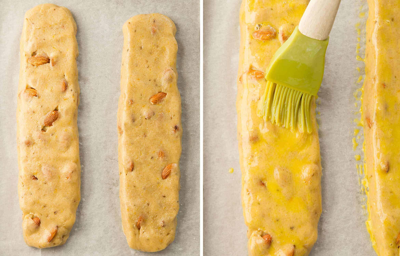Step-by-step photos to make almond biscotti