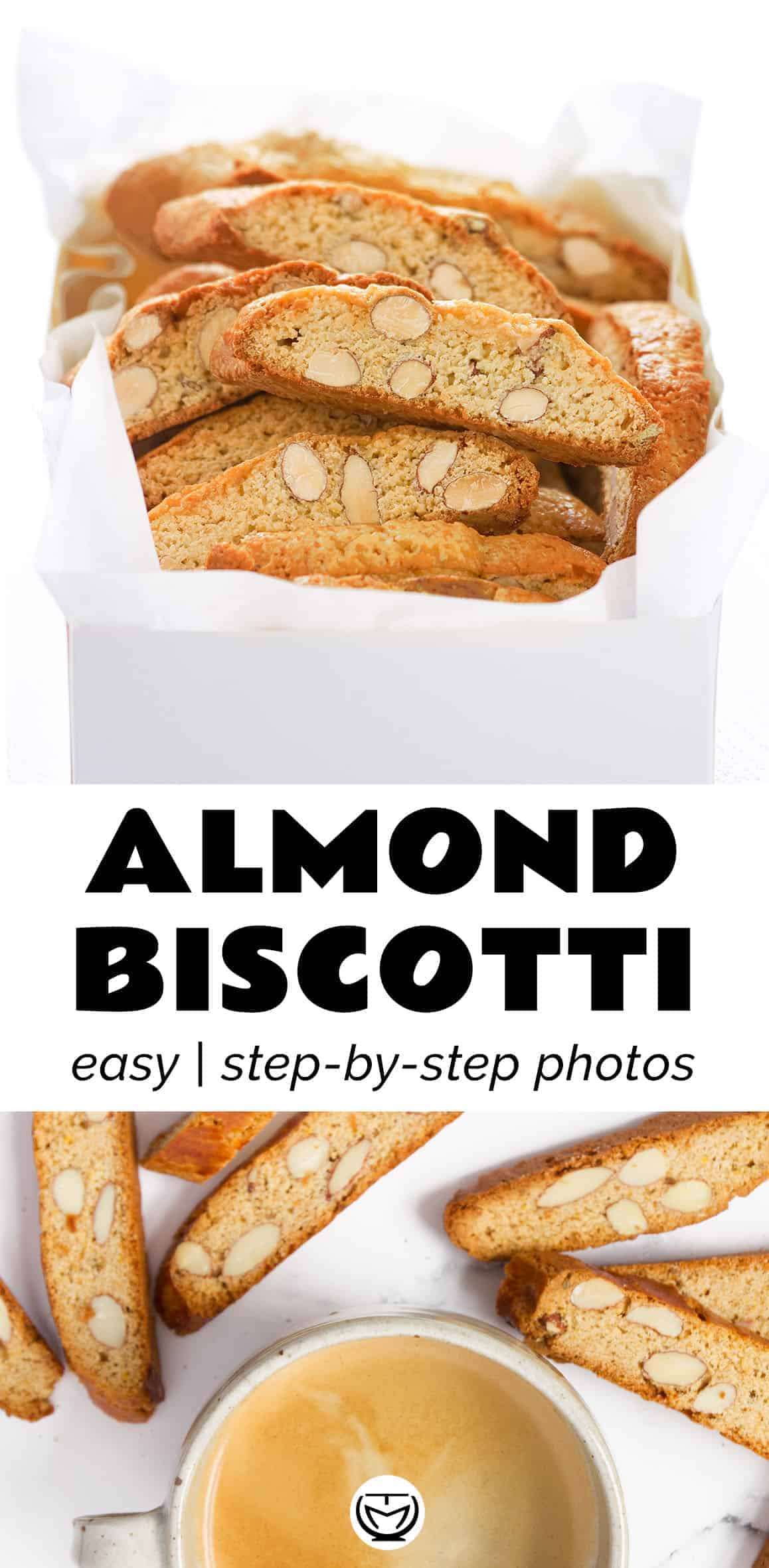 You can't resist these addictive crunchy almond biscotti, they're so crispy and mega delicious, with toasted almonds and hints of orange and honey.