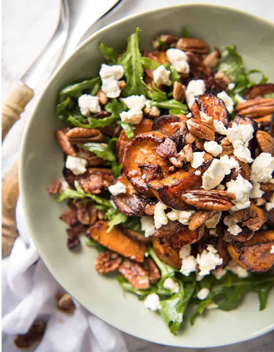 15 amazing holiday salads: ROASTED SWEET POTATO SALAD WITH HONEY LEMON DRESSING by Recipe Tin Eats