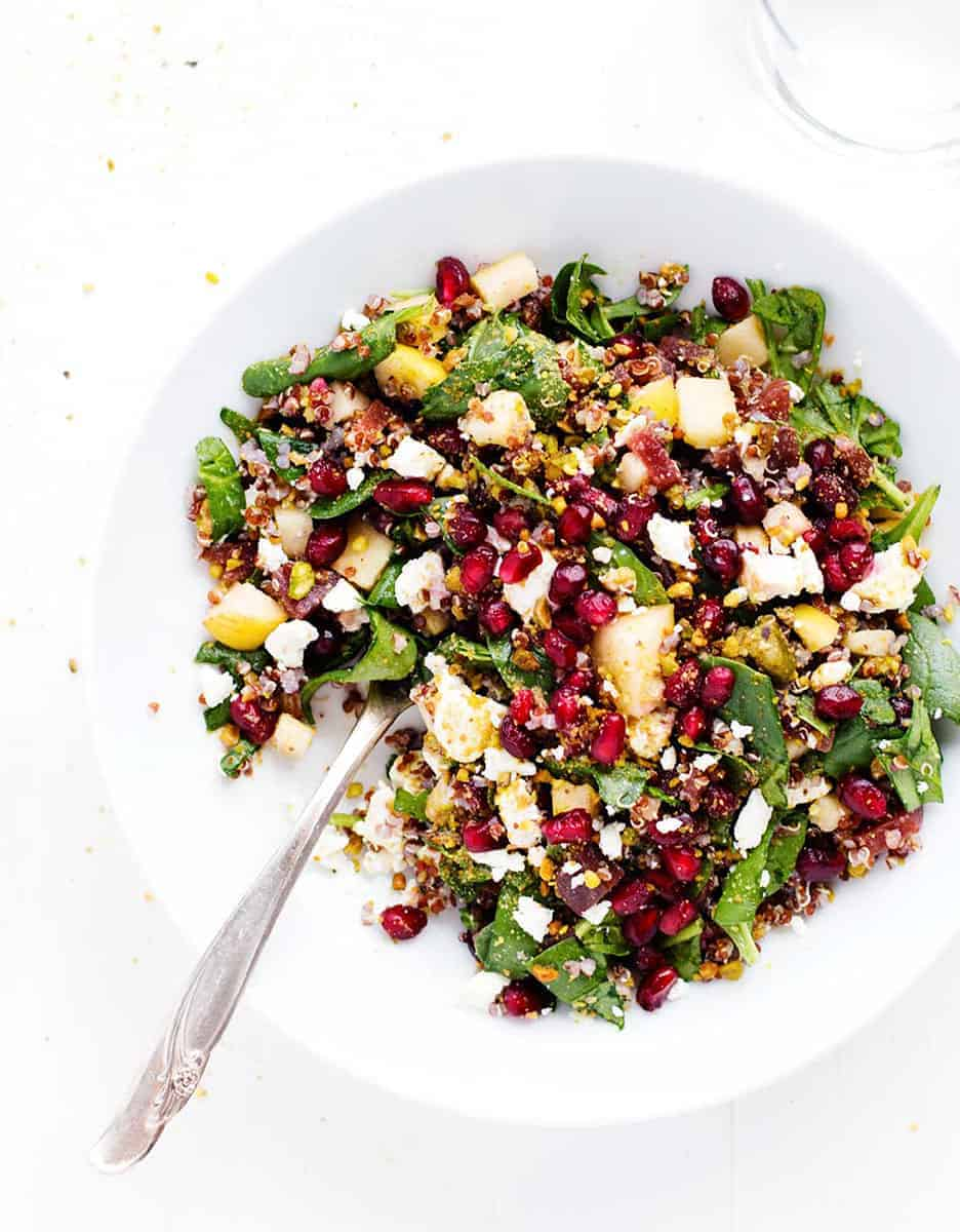 15 amazing holiday salad: WINTER RAINBOW QUINOA SALAD by Pinch of Yum