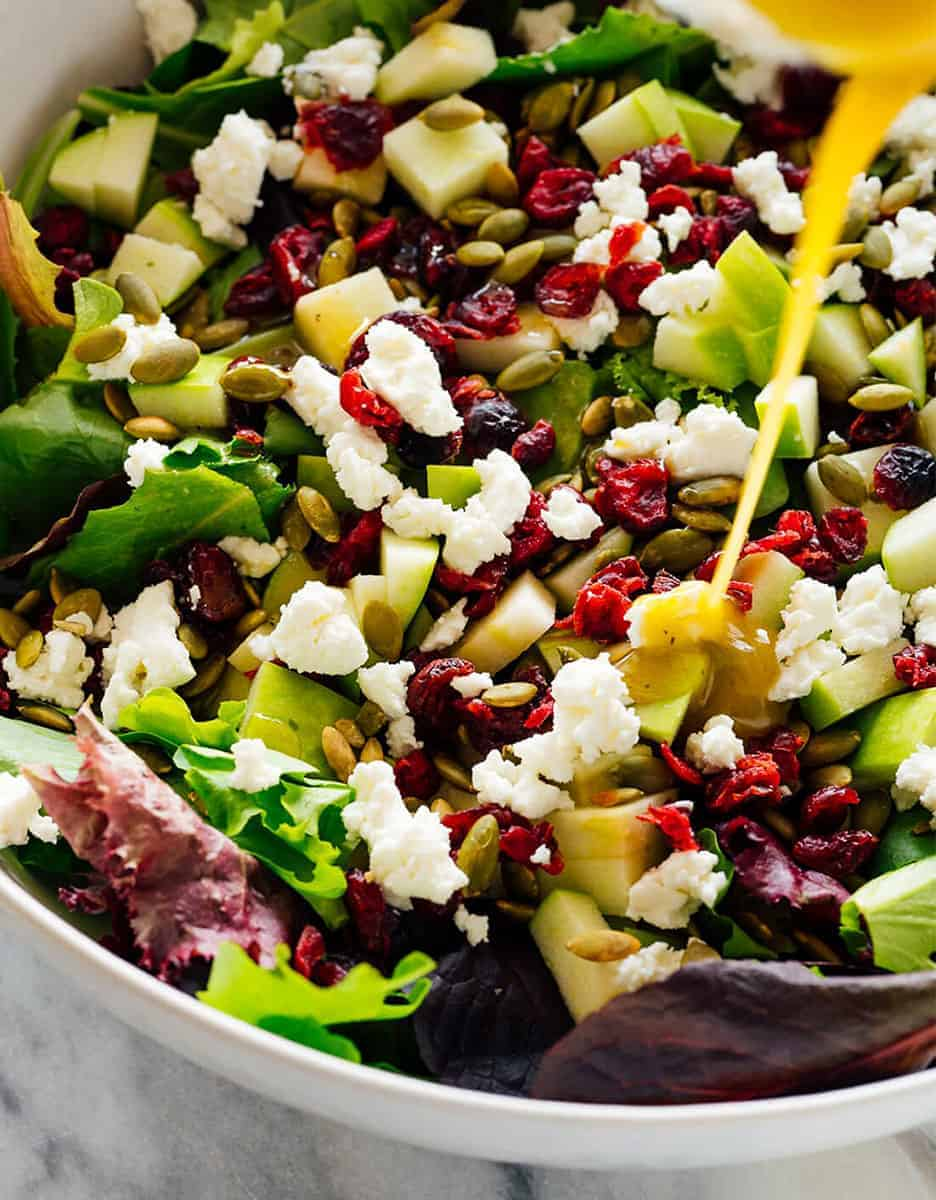 15 amazing holiday salads: FAVORITE GREEN SALAD WITH APPLES, CRANBERRIES, AND PEPITAS by Cookie & Katie