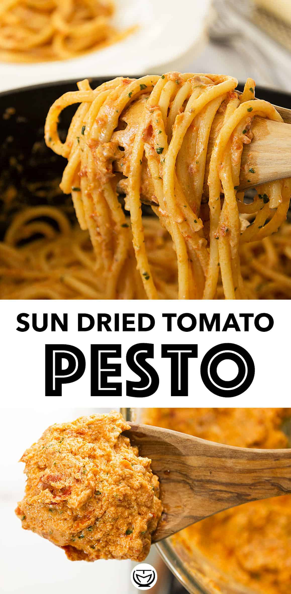 This scrumptious creamy sun dried tomato pesto will be fabulous with your pasta, it tastes and smells amazing and will boost your mood on busy nights. #pestorecipes #pestopasta #sundriedtomatopasta #vegetarianrecipes #pastarecipes