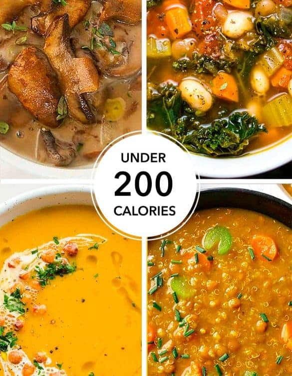 20 delicious and healthy soups with less than 200 calories per serving!