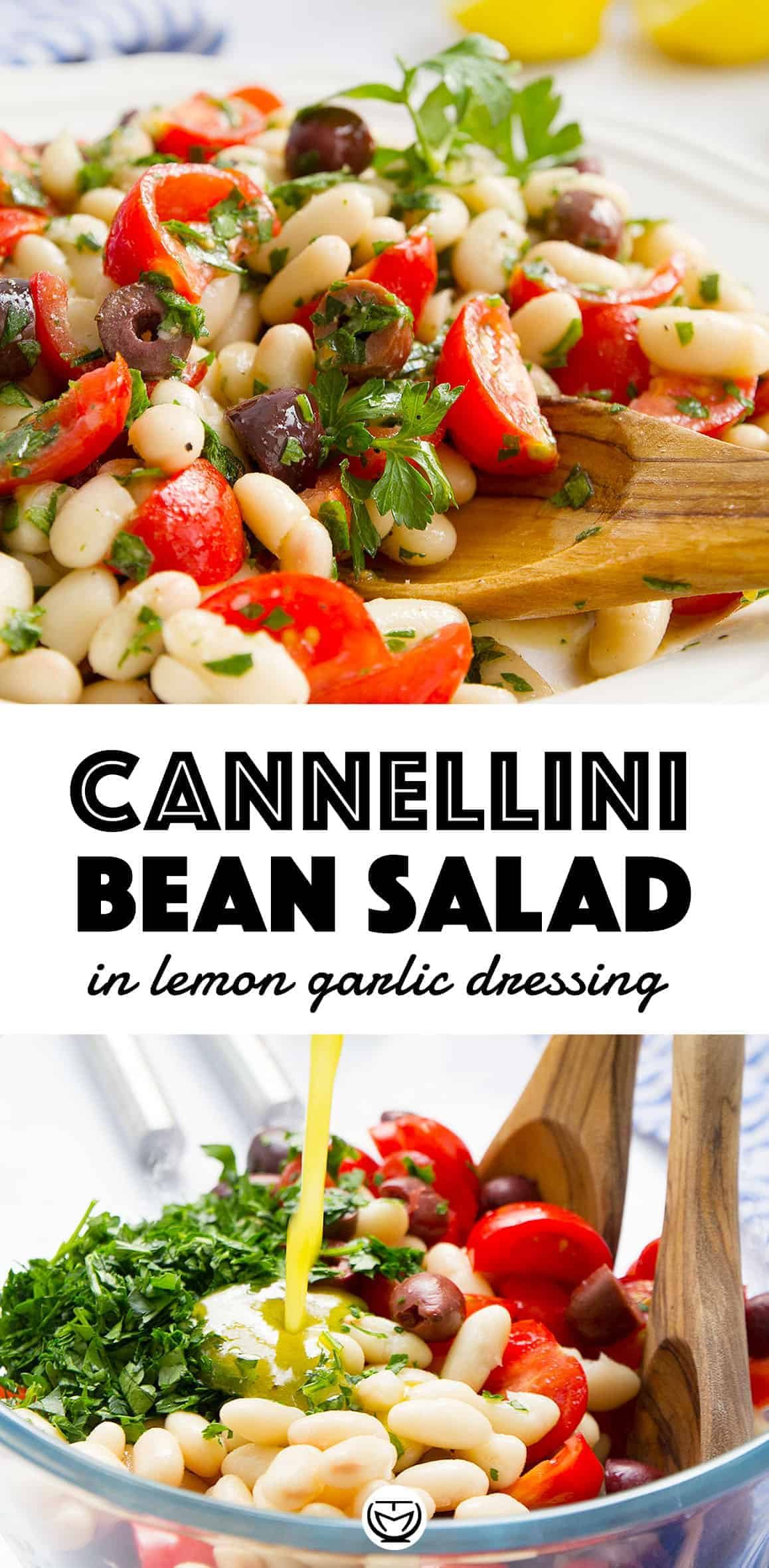 This delicious cannellini bean salad packs protein and big flavors in less than 10 minutes! #beansalads #veganrecipes