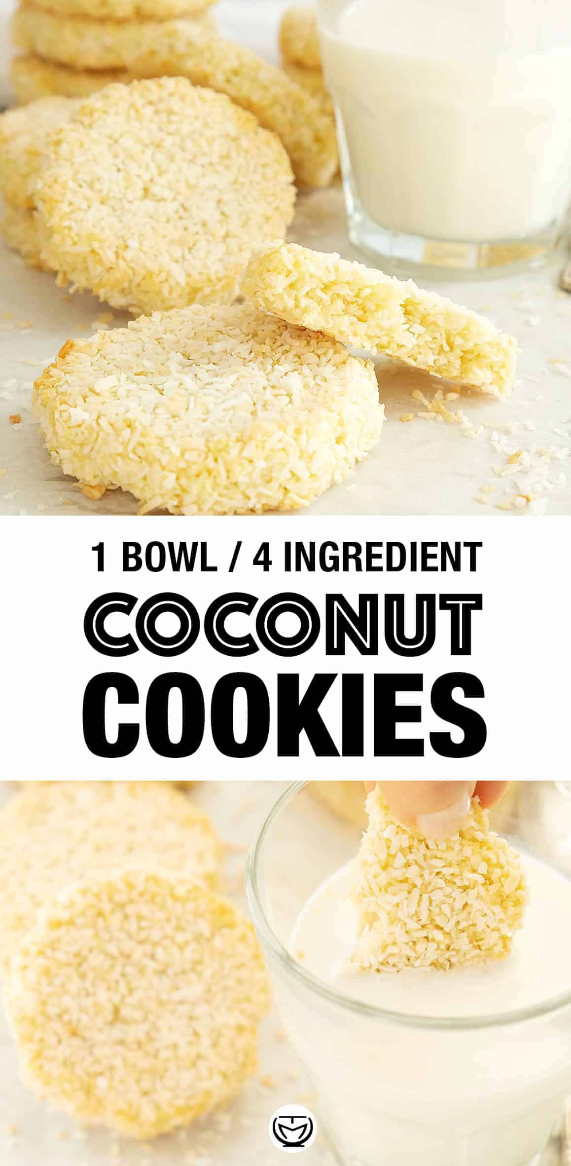 These are the coconut cookies of your dreams: chewy, tender and bursting with delicious coconut flavor! #cookierecipes #coconut #cookiesrecipeeasy